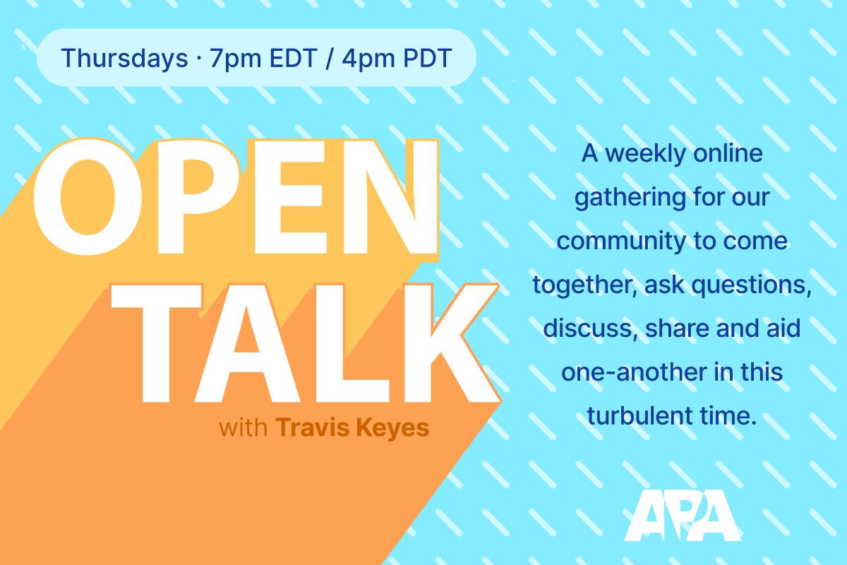 APA Open Talk Webinar branding